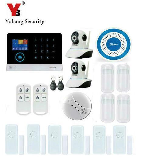 Yobang Security-WIFI GSM Home Wireless Security Alarm Self-defense Wireless Alarm Mainframe Kits HD IP Camera Home Alarms