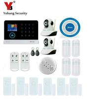 Yobang Security WIFI GSM Home Wireless Security Alarm Self defense Wireless Alarm Mainframe Kits HD IP Camera Home Alarms