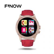 Frauen Diamant Smart Uhr NO. 1 D2 Pulsmesser Wasserdicht Bluetooth mit Kamera Smartwatch für iPhone Android-Handy