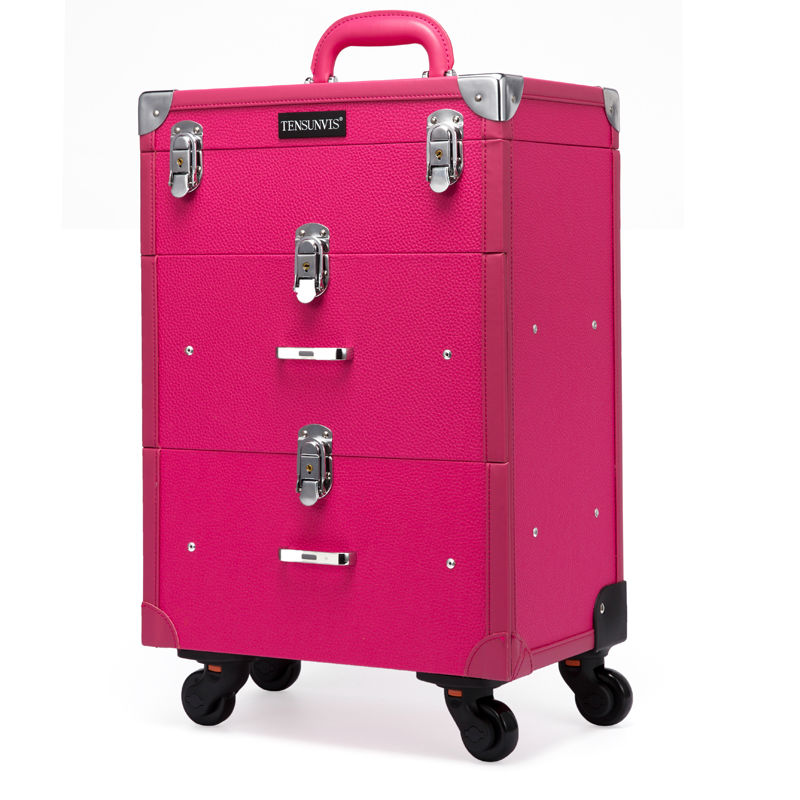 Beauty Trolley Hairdressing Case Manicure and beauty trolley nail Case Universal wheel