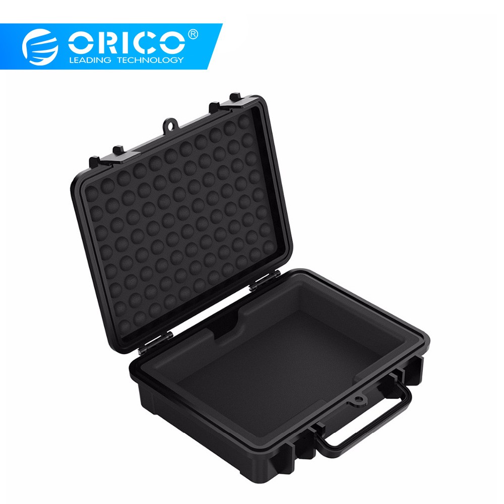 ORICO 3.5 Inch HDD Protection Box With Water-proof + Shock-proof + Dust-proof Function Safety Lock And Snap Design