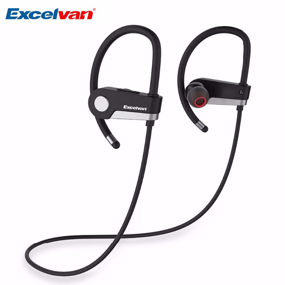 Excelvan C6 Wireless Bluetooth 4.1 Sports Headset Earphone Earpiece For Sport Running Stereo Earbuds With Microphone