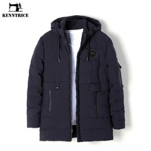 KENNTRICE Jacket Mens Winter Parkas Coat Long Trench Coat Hooded Jackets Warm Parka Men Long Thick Puffer Jackets Nylon Anorak(China)