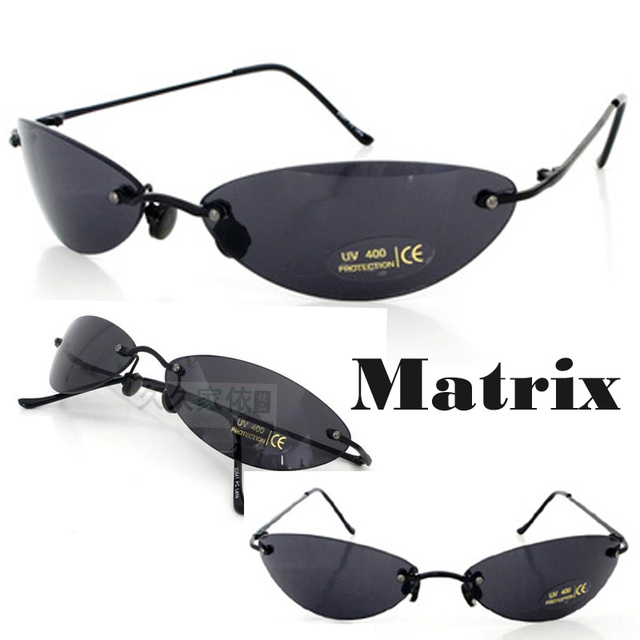 bbd4b77118 Matrix Morpheus Sunglasses Movie sunglasses men 13.9 g Ultralight Rimless  Classic Oval glasses Oculos Gafas De Sol 2017 New