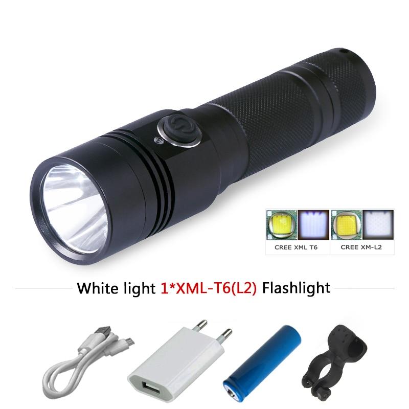 968f90d3b Potente linterna LED mini XM L2 Lanterna Tatica 18650 carga flash luz antorcha  impermeable camping caza zaklamp en Linternas y Linternas de Luces e ...