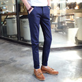 El envío libre 2017 otoño y el invierno modelos de explosión de los hombres Coreanos Delgados rectos pantalones casuales