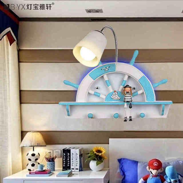 Mediterranean Sea The Childrens Room Wall Lamp Bedroom Lamp Boy - Boy lamps for bedroom