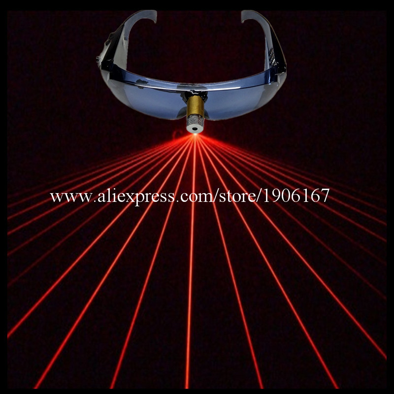 Forró eladó 1 db piros lézer ember megjelenítése fél szemüveg - Ünnepi és party kellékek