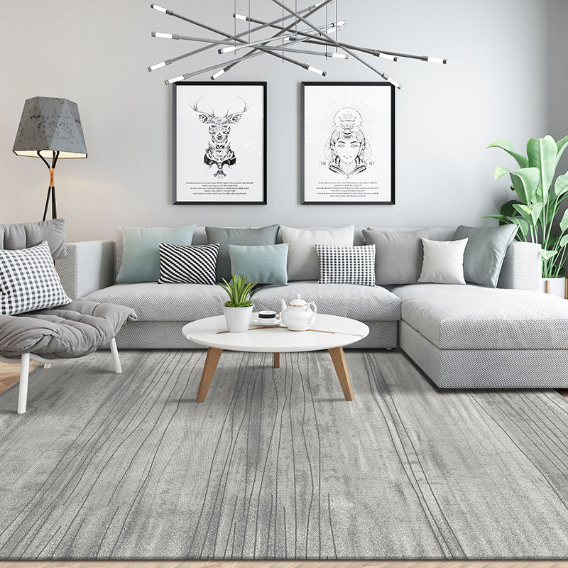 Nordic Grey Series Carpet Living Room Home Bedroom Carpet Sofa