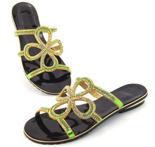 doershow high quality special design luxury LOW heel african women shoes Size 37 43 DD1 76