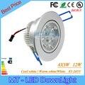 20 unids 12 W Led Focos Led Regulable Bombillas led 85-265 V LED de iluminación Empotrada led luz del punto con conductor del led 3 años de garantía