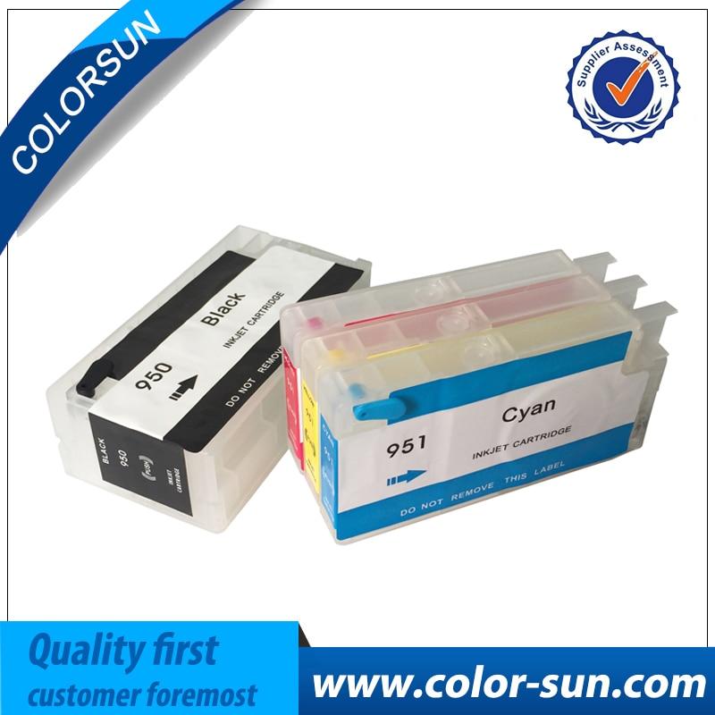4 Colori per HP950 951 950 XL 951XL cartuccia di Inchiostro Riutilizzabile per HP 8610 8620 8680 8615 8625 Stampante con ARC chip