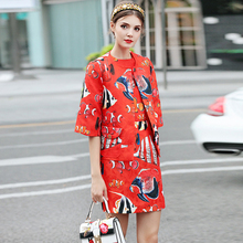 XF 2018 Runway Designer Suit Set High Quality Women'S Clothing Set Sexy Tops + Casual Print Skirt Dress Set Suit