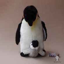 Kawaii Mother And Baby Penguin  Doll  Plush Toys for children  Simulation Wildlife  Gift