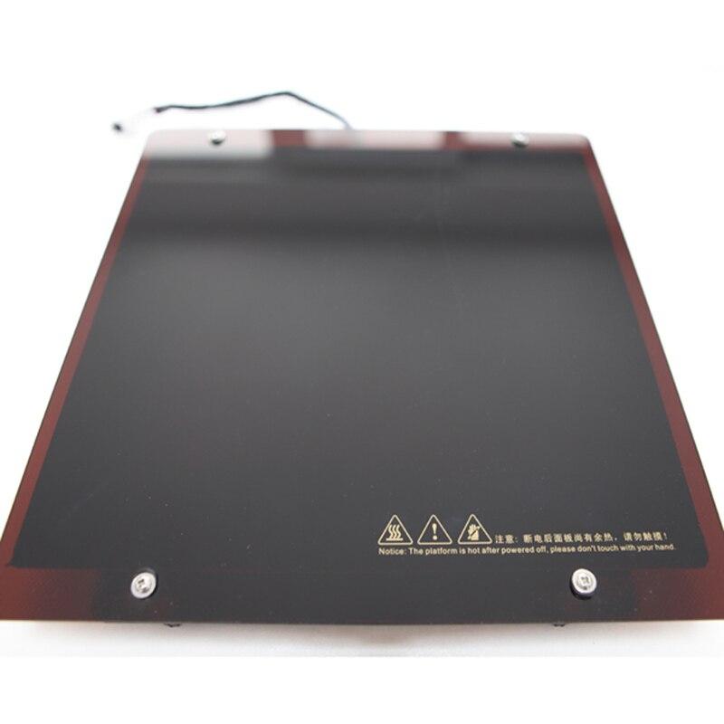 Lit chauffant de plate-forme d'impression d'imprimante 3d de série de CreatBot DX et panneau en verre épais pour DX F430 D600