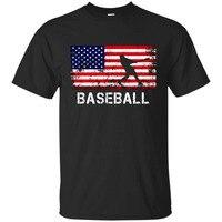 USA Flag Baseballer T Shirts Baseballer Team Gift