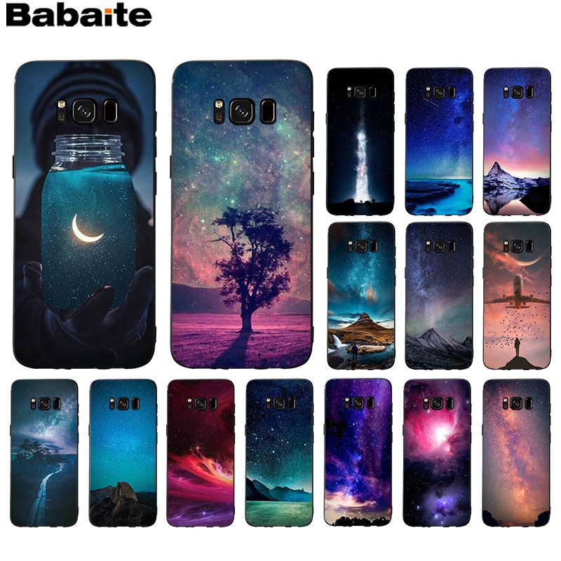 Babaite Wonderful starry sky Popular Custom TPU <font><b>Phone</b></font> Cover For GALAXY <font><b>s7</b></font> edge s8 plus s9 plus s5 s6 edge for capa image