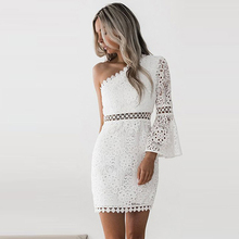 2018 Autumn New Vintage hollow out lace dress women Elegant sleeveless white dress summer chic party sexy dress vestidos robe