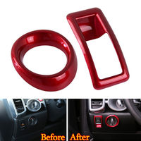 2x Auto Inner Headlight Switch Adjustment Knob Cover Trim Sticker Fit For Porsche Cayenne 2011 16 Car Styling Interior Accessory