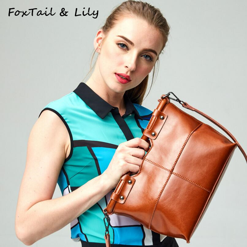 FoxTail & Lily Original Design Genuine Leather Women Handbags Small Shoulder Messenger Bags Female Crossbody Bag Luxury Quality women shoulder bags leather handbags shell crossbody bag brand design small single messenger bolsa tote sweet fashion style