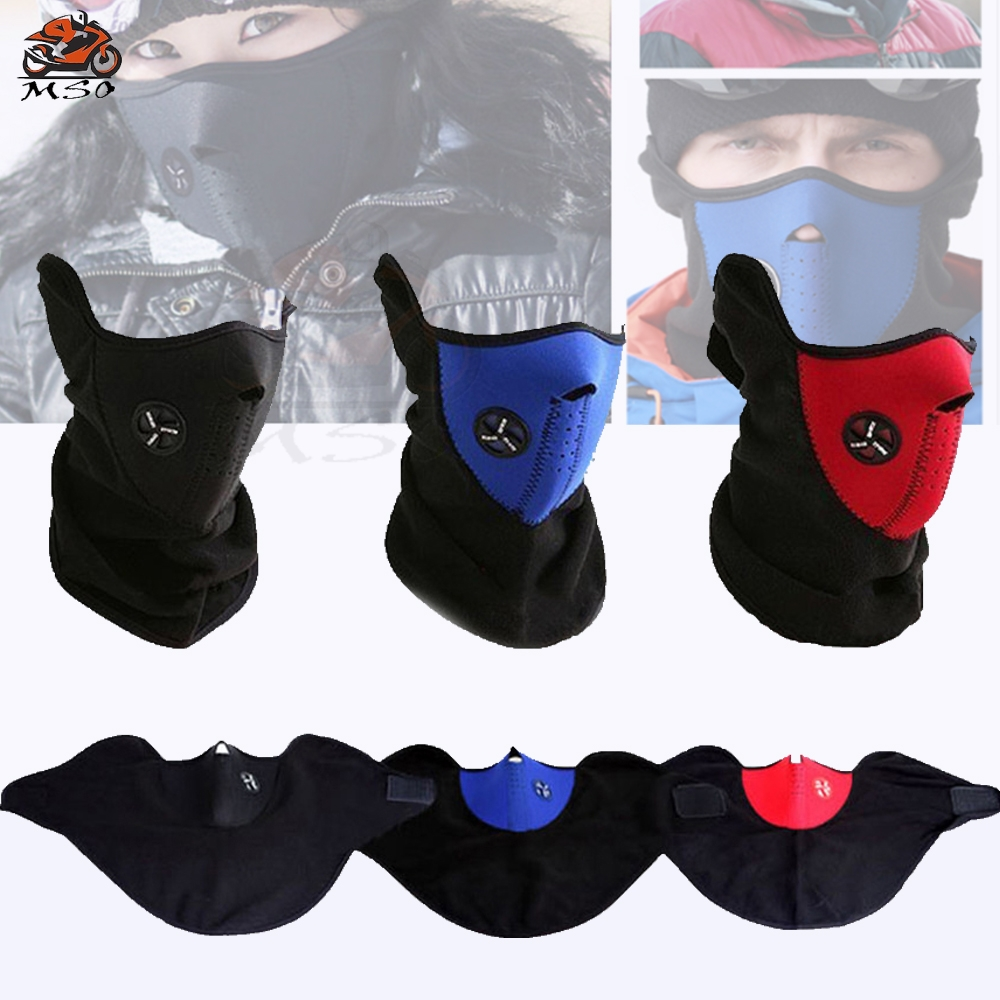 Warm Full Mask Winter Warm Fleece Balaclavas Ski Cycling Half Face Mask Cover Outdoor Sport Windproof Neck Guard Scarf Headwear in Motorcycle Face Mask from Automobiles Motorcycles