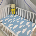 1 pc capa de colchão rosa branca cor nuvens de algodão folha de cama do bebê meninas meninos berço cama conjunto