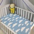 1 unid colchón rosa blanco gris color nubes cama de bebé de algodón sábana ajustable bebés niños ropa de cama cuna conjunto