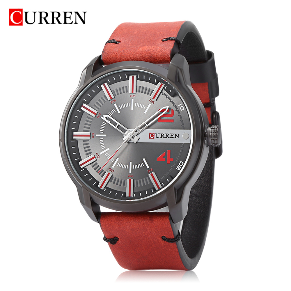 2018 LUXUR CURREN 8306 Male Quartz Gold Watch Casual Leisure Business Wristwatch For Men Waterproof Watch Relogio Masculino