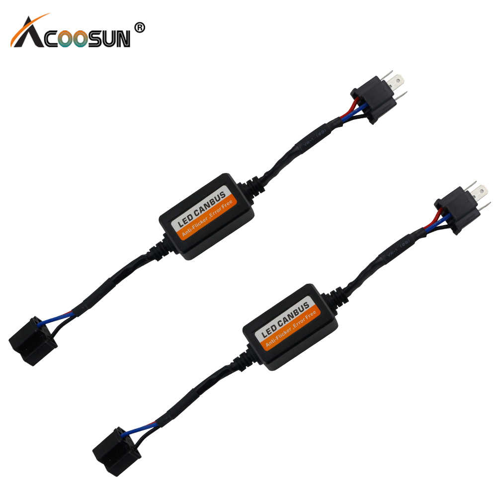 2pcs Error Free Canbus Decoder for LED Car Headlight Bulb Kits for SUV Fog Lamps H4 H7 H11 H13 9005 9006 Error Warning Canceller