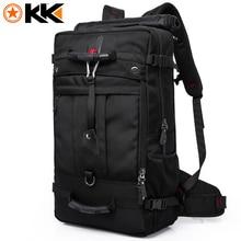 KAKA 2050 Huge Capacity Waterproof Travel Backpack Men Fashion Black Mountaineering Multifunction Male Backpacks Luggage Bags
