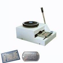 Stailness Сталь Алюминиева Embosser тиснения машина 52 персонажи руководство жетонов ID карты тиснения