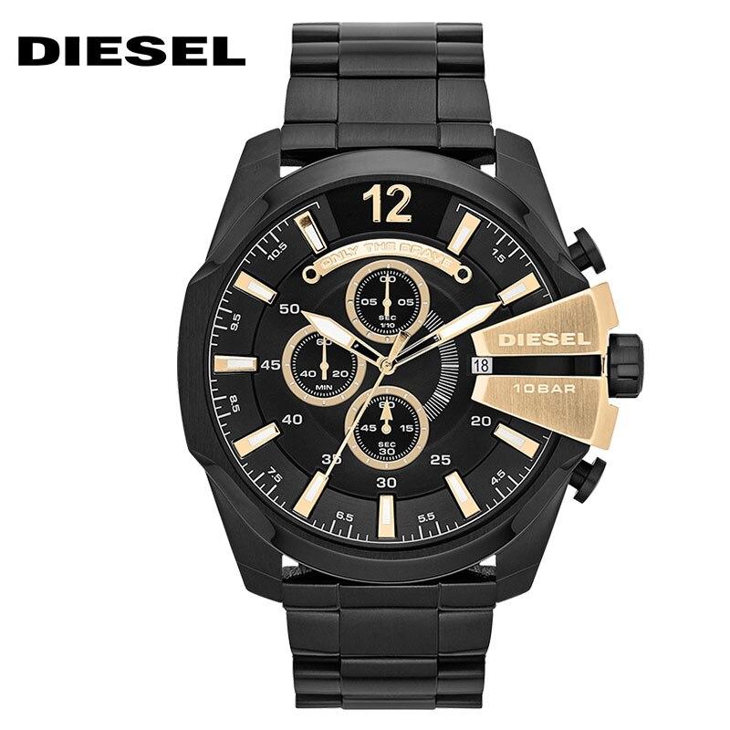 Serie del oficial del Diesel CHIEF oro negro timequartzite Reloj - Relojes para hombres