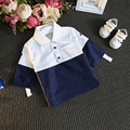 C2017 Мальчики Девочки Рубашка Лоскутное Рукавом Летний Повседневная Рубашка Baby Дети Моды Короткий Рукав Рубашки Хлопка Детей Clothing