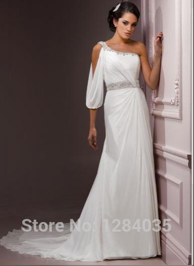 Cheap Goddess Wedding Dress Greek Goddess Style Wedding Dresses One ...