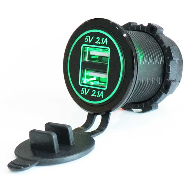 12-24 в USB прикуриватель зарядное устройство для мотоцикла Авто Грузовик ATV Лодка светодиодный автомобиль 4.2A двойной USB зарядное устройство выход адаптера питания