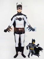Grey & Black Batman Superhero Costume Adult Halloween Cosplay Male Superhero Costumes Hot Sale Zentai Suit For Adult/Kids/Custom
