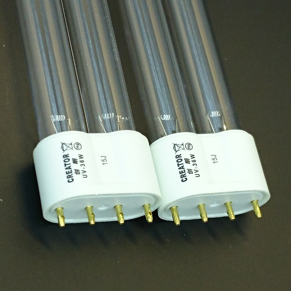 2 PCS UV Light Bulbs 36W Watt 2G11 Base for Aquarium UVC Sterilizer