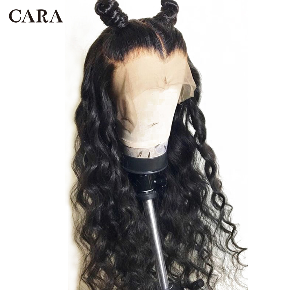 Предварительно сорвал Full Lace человеческих волос парики с ребенком волосы распущены волны бразильский Волосы remy 130% Плотность Полное Кружева