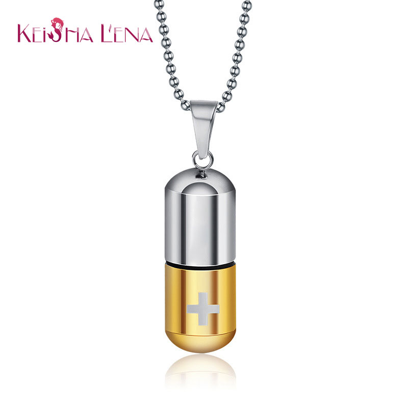 Keisha lena fashion jewelry stainless steel pill ash holder perfume keisha lena fashion jewelry stainless steel pill ash holder perfume box memorial cremation urn pendant necklace in pendant necklaces from jewelry aloadofball Choice Image