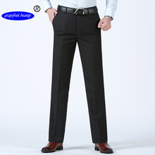 Grapefruit beauty Official Store 2019 Summer business men middle-aged casual pants Straight Trousers Fashion trousers  age 28-38