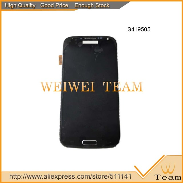 For Samsung Galaxy S4 i9500 GT-i9500 i9505 GT-i9505 LCD Screen Display With Touch Screen Digitizer Assembly With Middle Frame
