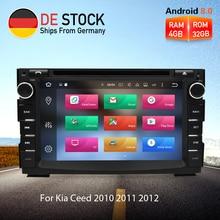 4 г Оперативная память Android 8,0 Автомагнитола DVD gps навигации мультимедийный плеер стерео для Kia Ceed 2010 2011 2012 Авто аудио Видео головного устройства
