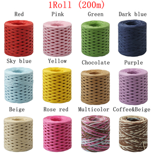 Image 5 - 200M Paper Rope Raffia Ribbon Natural Lace Rope Gift Box Wrapping DIY Scrapbooking Crafts Wedding Birthday Party Decoration