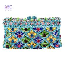 LaiSC evening clutch bags women party purse luxury diamante bridal soiree bag packet ladies prom monedero