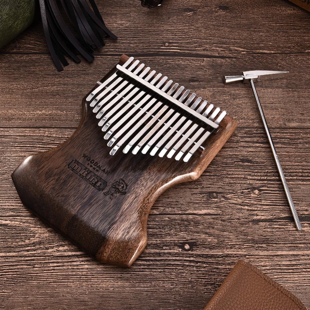 17 πλήκτρα Kalimba Calimba Mbira συμπαγές μαύρο - Μουσικά όργανα - Φωτογραφία 6