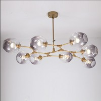 Branching Bubble Glass Pendent Lights Retro Loft vintage LED Lamp Glass Lindsey Adelman Room Ceiling Lighting Fixtures