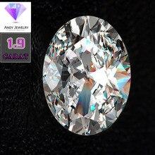 7*9mm Oval Cut 1.9 carat VVS Moissanite Super White Loose Diamond for Wedding Ring