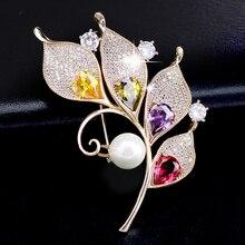 цены на Vintage Multicoloured Crystal Rhinestone Pearl Flower Brooch Woman Collar Pin Floral Brooches Pins Bridal Accessory Jewellery  в интернет-магазинах