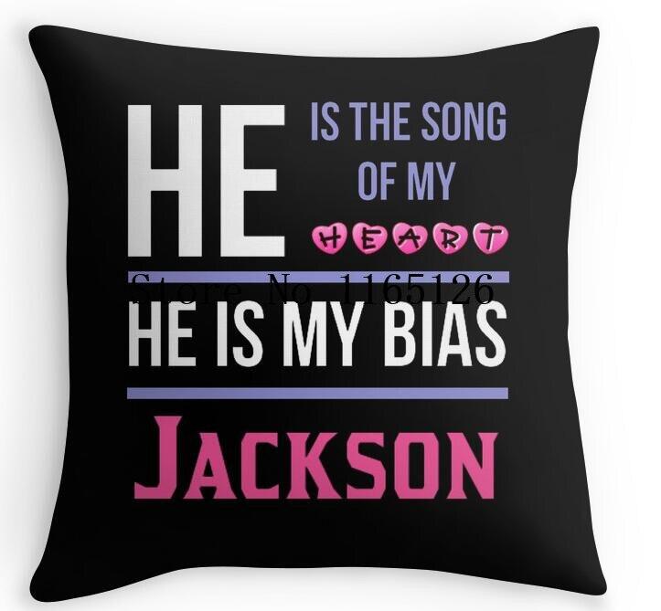 ร้อนตลกเขาเป็นของฉันอคติสีดำ-แจ็คสันสแควร์ซิปโยนหมอนตกแต่งปลอกหมอนด้านคู่