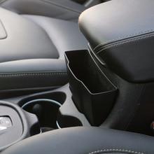 For 2014-2018 Jeep Cherokee Black Car External Armrest Storage Key Box Holder